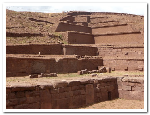 Partly reconstructed Akapana Pyramid at Tiwanaku