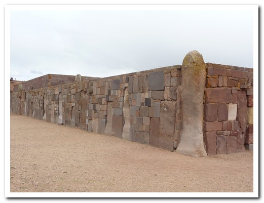 Different rocks were used for the east and north walls