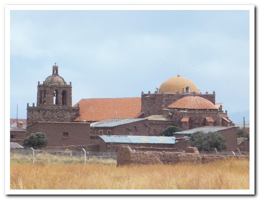 The Spanish took stones from Tiwanaku to build this church nearby