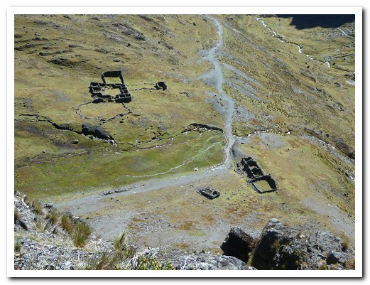 Ruins of Inca resting places along the trail