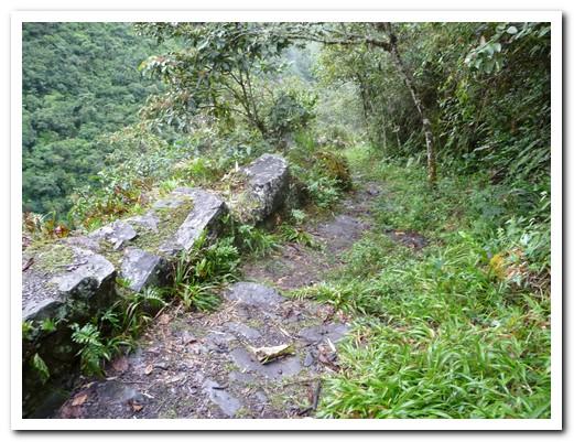 Ancient walls retain the path