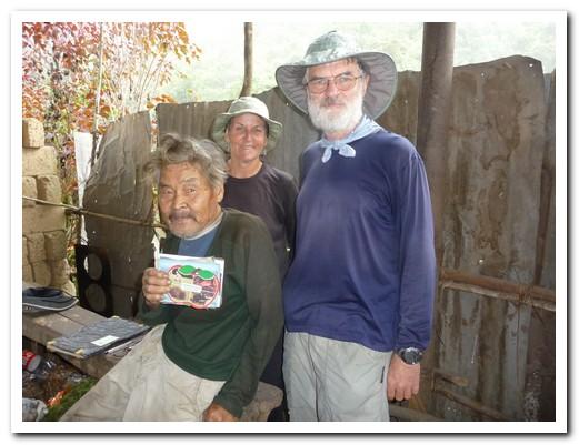 Mr Tamiji Hanamura enjoys talking to passing visitors