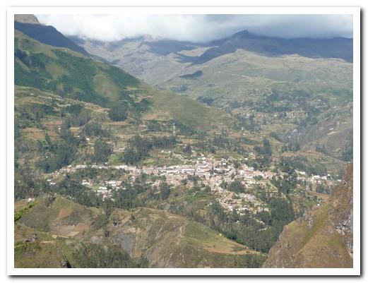 Sorata nestled in the mountains