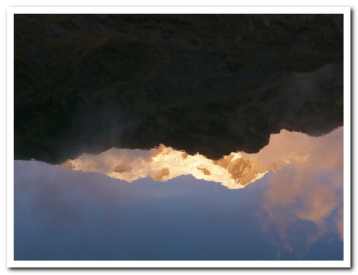 Reflection of the mountains in the lake