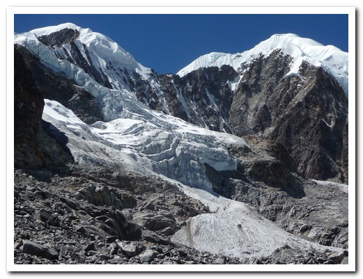 Glaciers from 4800 meters