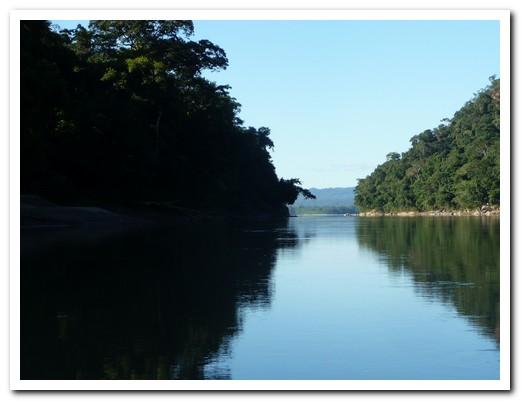 Gliding down river