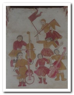 One of the music murals on the wall