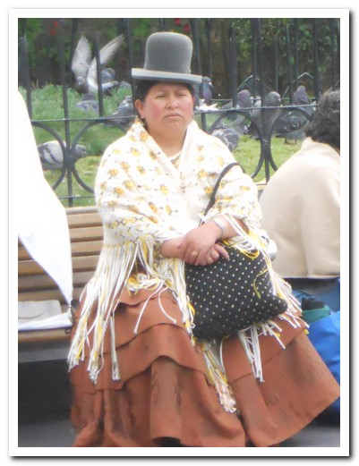 Typical Aymara dress
