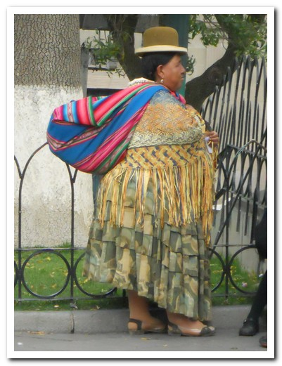 The Cholas wear beautiful skirts and shawls