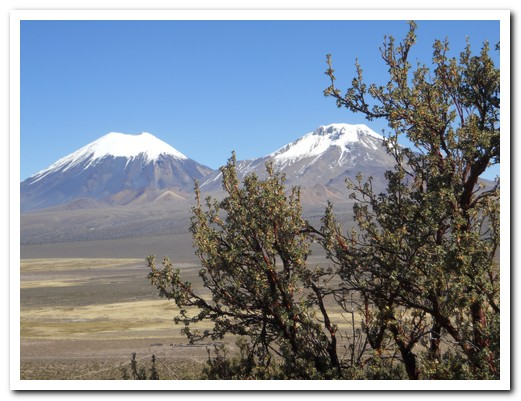 Twin volcanos on the Bolivia/Chile border