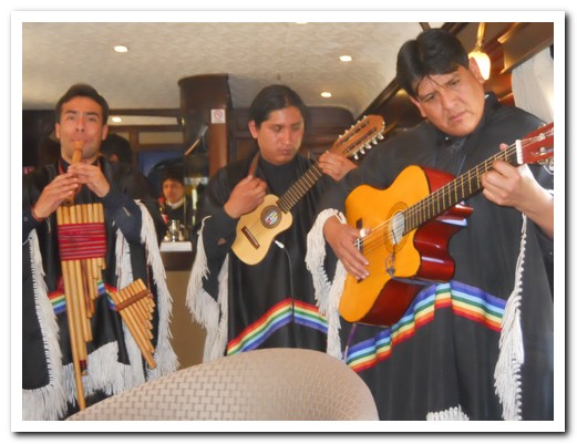 A live Peruvian band on board