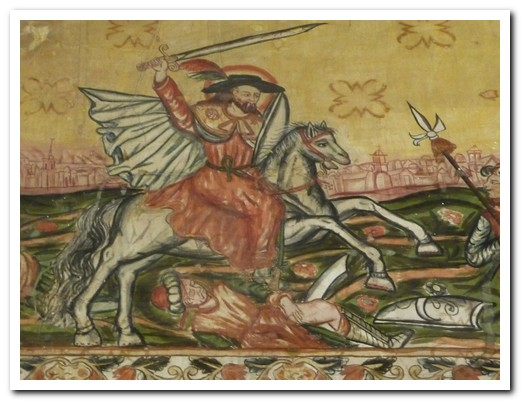 Inside mural of Santiago Matamoros (The Moor slayer)