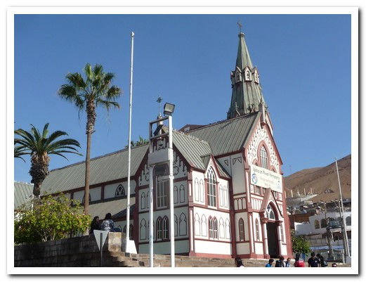 Arica´s all iron church designed by Eifel and built in Paris
