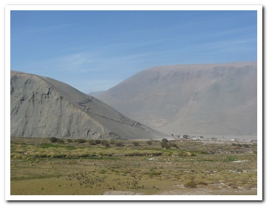 Massive sand dunes, over 1000 metres high, in northern Chile