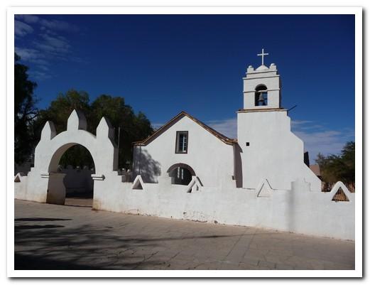Adobe church at San Pedro de Atacama