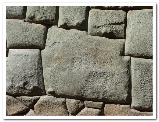 The twelve sided stone in an Inca wall in Cusco