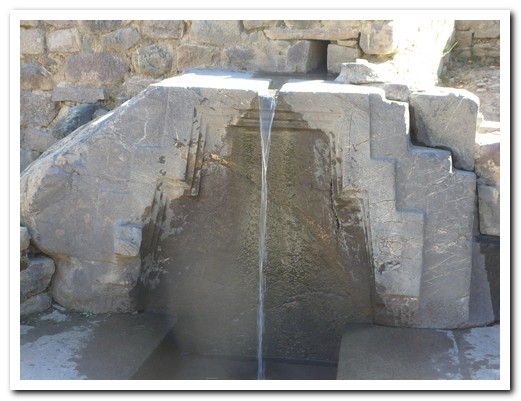 Fountain at Ollantaytambo