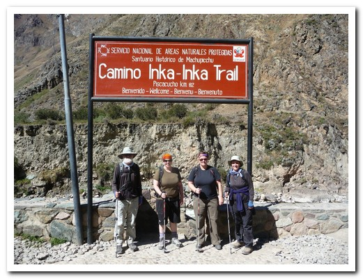 Starting the Inca Trail