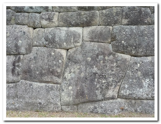 Fine stone walls used on the important buidings