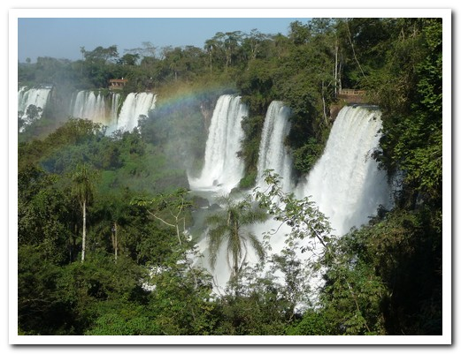 Some of the falls at Iguazú