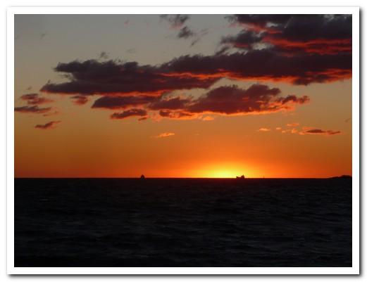 Sun setting across the Rio de la Plata