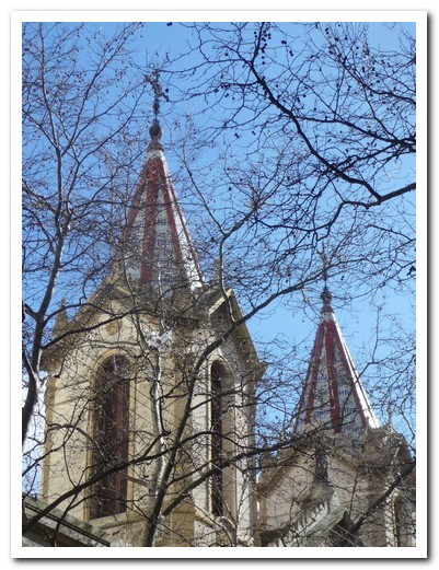 Church steeples in old Montevideo