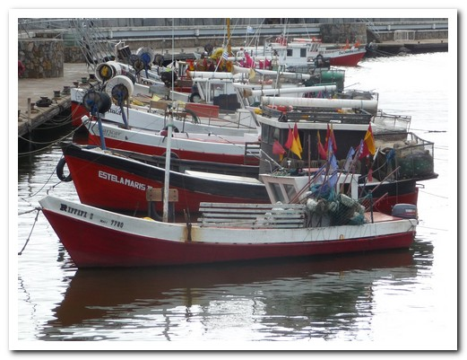 Punta´s fishing boats are not going out in the windy conditions