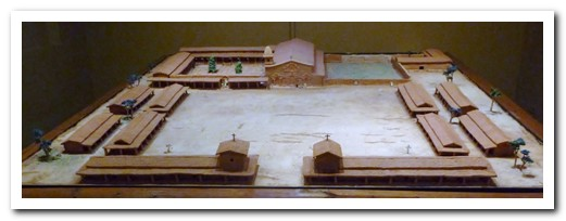 Scale model of how San Ignacio Miní looked in 1767