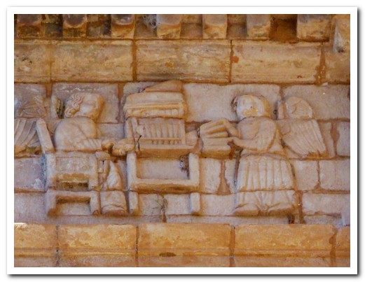Carved figures ...