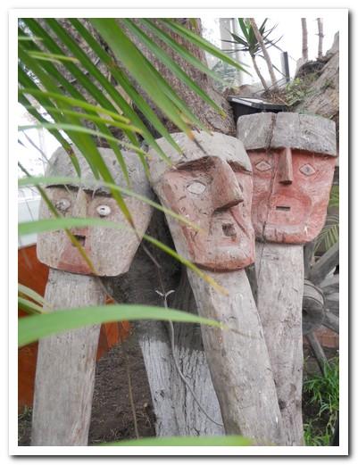 Pre Inca funeral masks