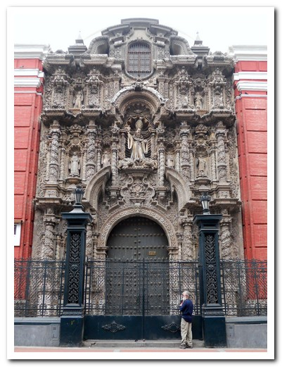 Carved front of the Iglesia de San Agustin