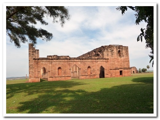 The church at Jesús de Tavarangue was not completed before the 1767 Jesuit expulsion