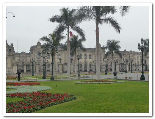 The Government Palace on the Plaza de Armas