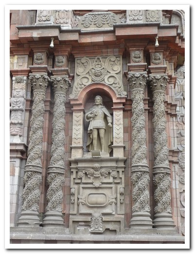 Detail of the entrance to the Iglesia de la Merced
