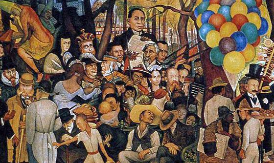 Detail with Benito Juárez